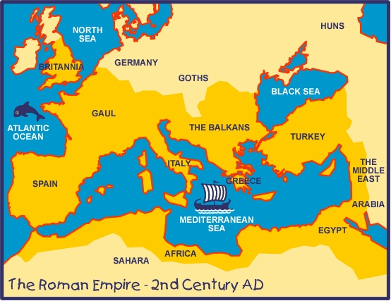 Blank Roman Empire Map For Kids Internet archaeol. 12. catling and ...