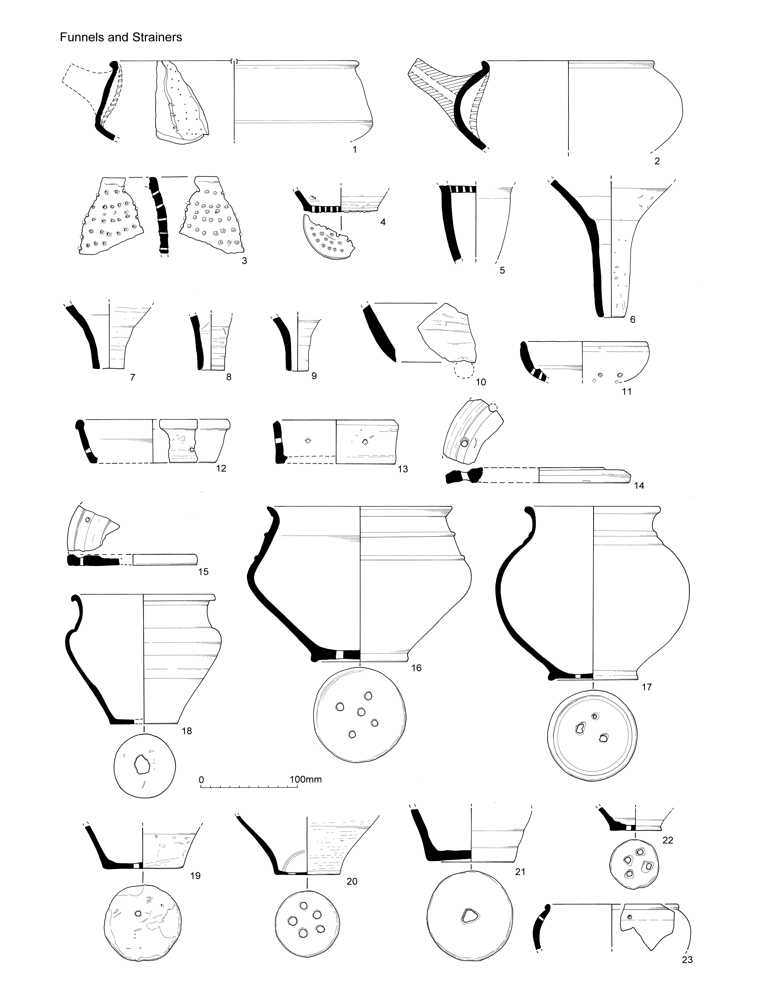 Internet Archaeol 40 Atkinson And Preston Late Iron Age Roman Schematic Of Thewhole 10 Segment Strip It39s Pretty Straightforward Nos 24 25 Pairs Holes On Either Side A Crack Are Easily Identifiable As Repairs The Shoulder Hole In Jar From Pit Fill 4140