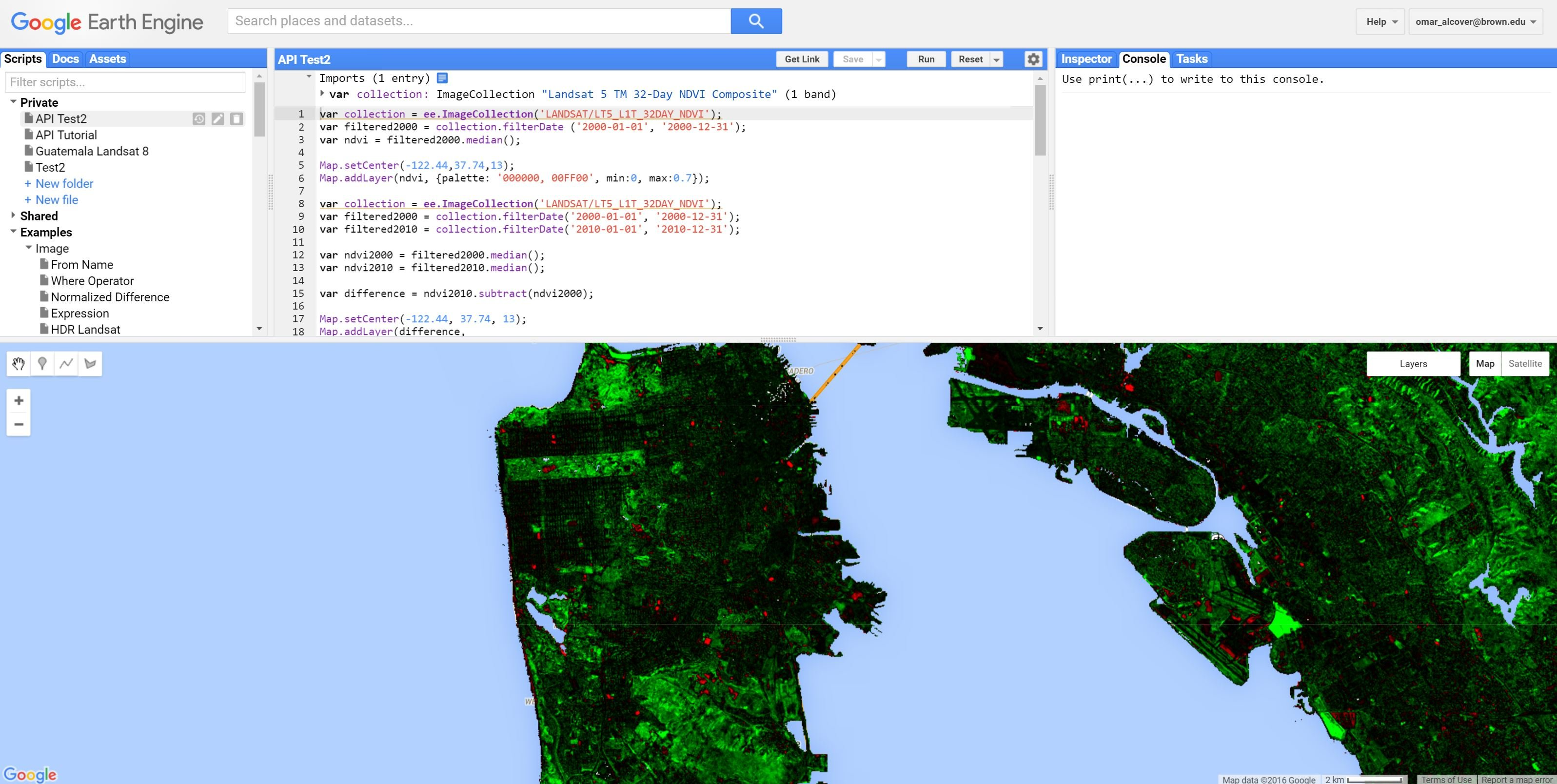 Internet archaeol 42 firpi review of a review of google earth figure 2 landsat ndvi composition scene over san francisco oakland and alameda california with just a few python scripts one can obtain ndvi data from gumiabroncs Gallery